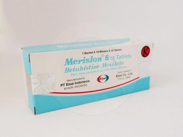Merislon tablet adalah obat yang digunakan untuk mengatasi vertigo, pusing, dan sindrom Meniere