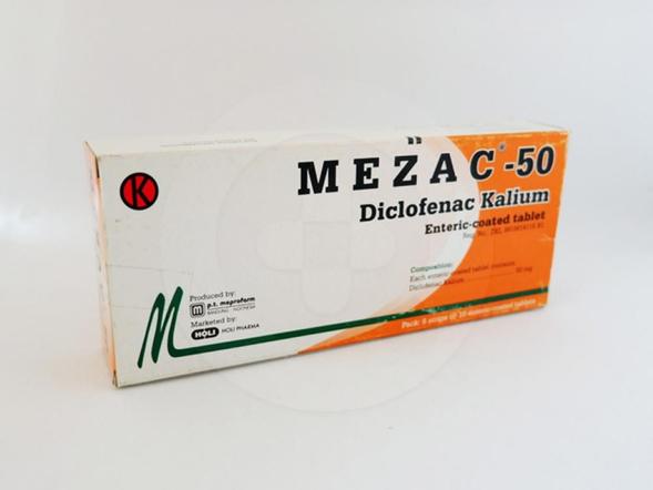 Mezac tablet 50 mg obat untuk pengobatan jangka pendek pada kondisi-kondisi nyeri akut.