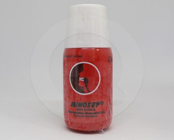 Minosep adalah obat kumur yang dapat mengatasi sariawan