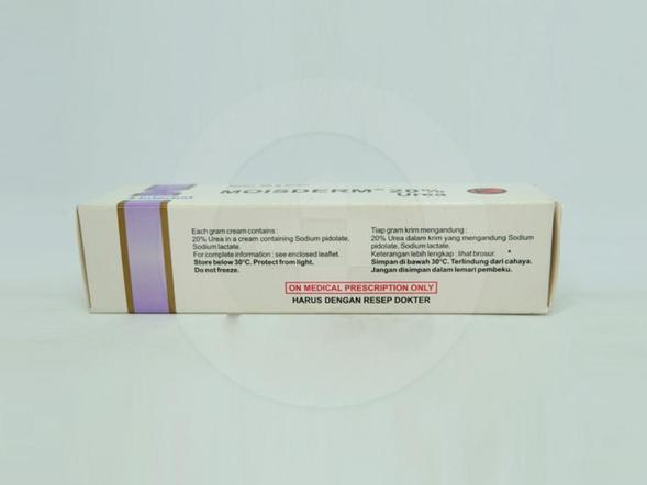 Moisderm 20 % krim 20 g adalah obat yang berguna untuk pengobatan ikhtiosis dan hiperkeratosis.