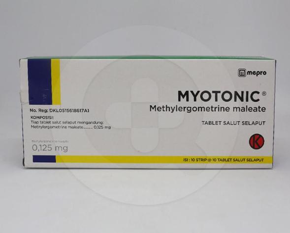 Myotonic adalah obat yang digunakan untuk mengobati pendarahan pasca persalinan dan keguguran