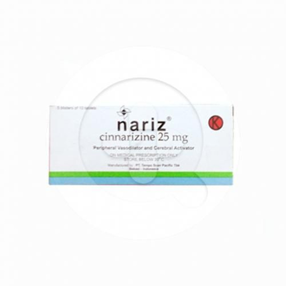 Nariz tablet adalah obat untuk mengatasi vertigo serta mencegah dan mengatasi mual dan muntah.
