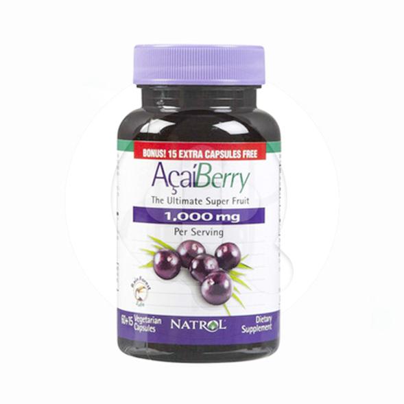 Natrol Acai Berry kapsul adalah suplemen untuk memelihara kesehatan tubuh