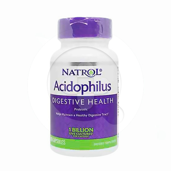 Natrol Acidophilus kapsul adalah suplemen untuk menjaga kesehatan saluran pencernaan