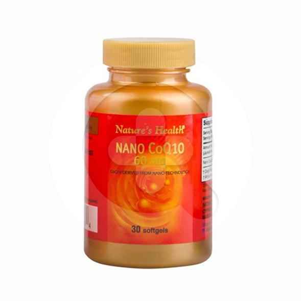 Nature's Health Nano CoQ10 kapsul adalah suplemen untuk menjaga kesehatan jantung
