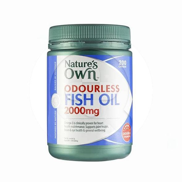 Nature's Own Odourless Fish Oil kapsul adalah suplemen untuk membantu menjaga kesehatan