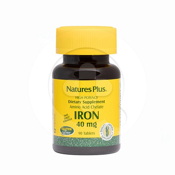 Natures Plus Iron tablet adalah suplemen untuk mengatasi anemia dan meningkatkan sistem imun.
