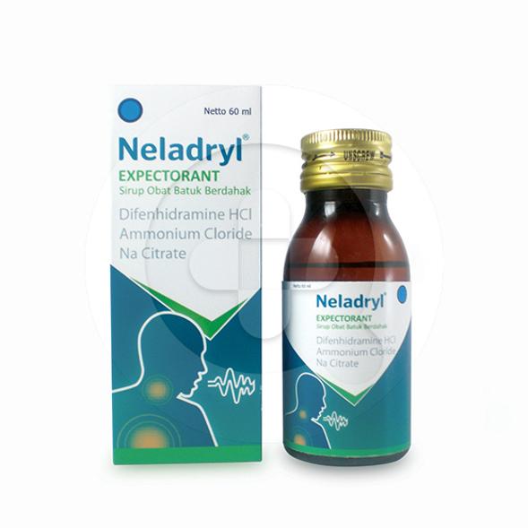 Neladry expectorant sirup adalah obat untuk mengatasi batuk berdahak yang disertai pilek dan demam.