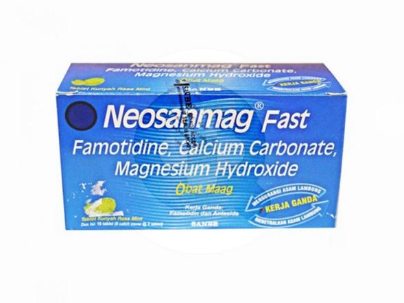 Neosanmag Fast tablet digunakan untuk meredakan gejala peningkatan asam lambung.