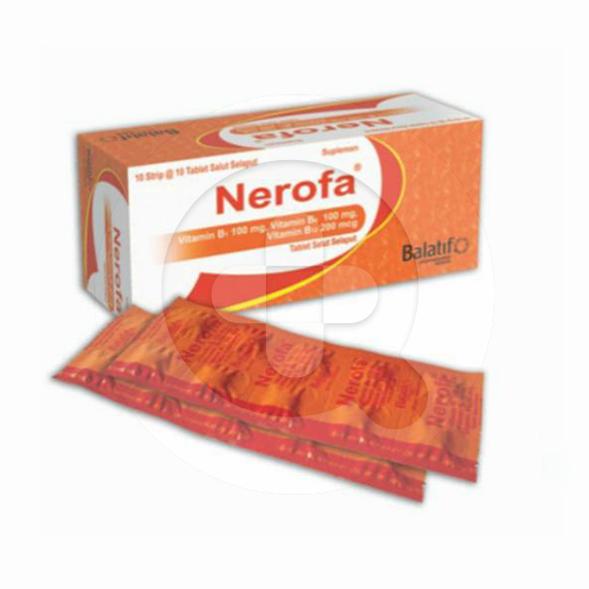 Nerofa tablet adalah suplemen untuk memenuhi vitamin B1, vitamin B6, dan vitamin B12.