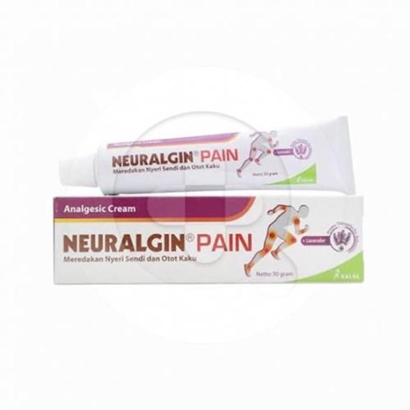 Neuralgin Pain krim digunakan untuk meredakan nyeri otot, nyeri sendi, terkilir, memar, nyeri punggung dan nyeri karena cedera saat berolahraga.