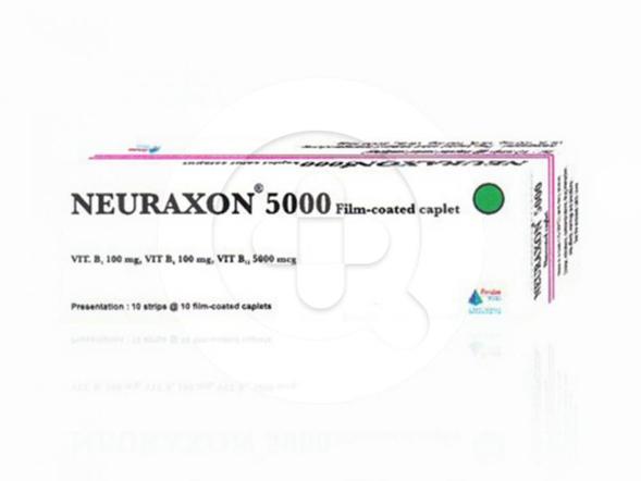 Neuraxon 5000 kaplet digunakan untuk mengatasi kekurangan vitamin B1, B6, dan B12 seperti pada beri-beri dan peradangan saraf.