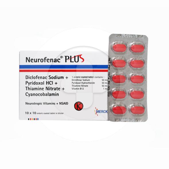 Neurofenac Plus tablet adalah obat untuk meringankan nyeri sedang hingga berat.