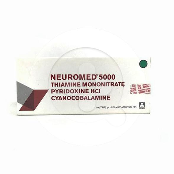 Neuromed 5000 tablet adalah obat untuk mengatasi kekurangan vitamin B1, B6, dan B12.