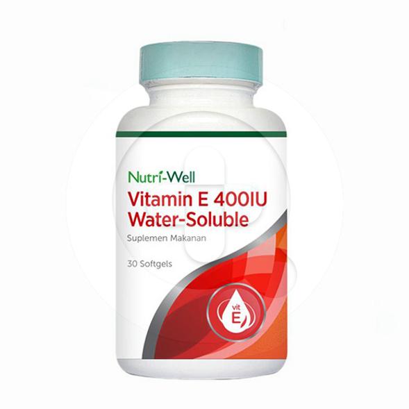 Nutriwell Vitamin E 400 IU Water Soluble kapsul adalah suplemen untuk memelihara kesehatan