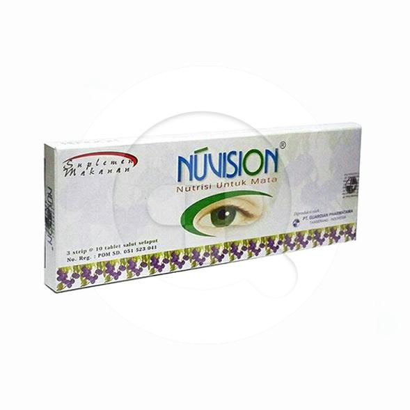 Nuvision tablet adalah suplemen untuk menutrisi mata dan memelihara kesehatan mata.