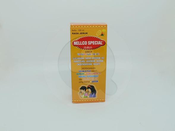 OBH Nellco Special Anak Sirup Rasa Jeruk adalah obat untuk meringankan gejala flu.