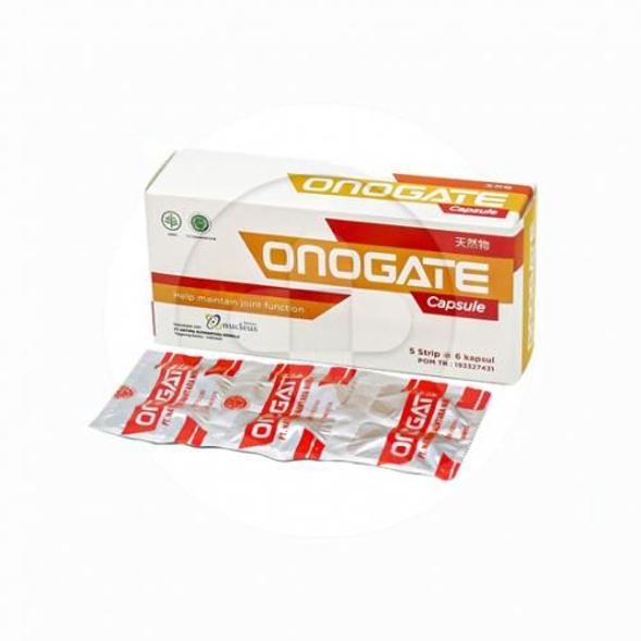 Onogate kapsul digunakan untuk membantu menjaga kesehatan dan meredakan nyeri sendi.