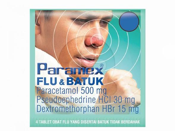 Paramex Flu & Batuk tablet adalah obat untuk meringankan gejala flu dan batuk