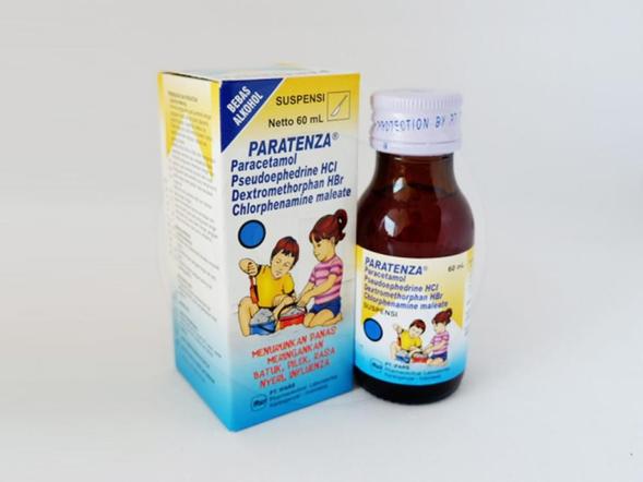 Paratenza suspensi adalah obat untuk mengurangi batuk dan flu.