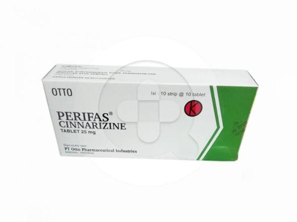 Perifas tablet adalah obat untuk mengatasi mabuk perjalanan, vertigo, dan telinga berdering (tinnitus).