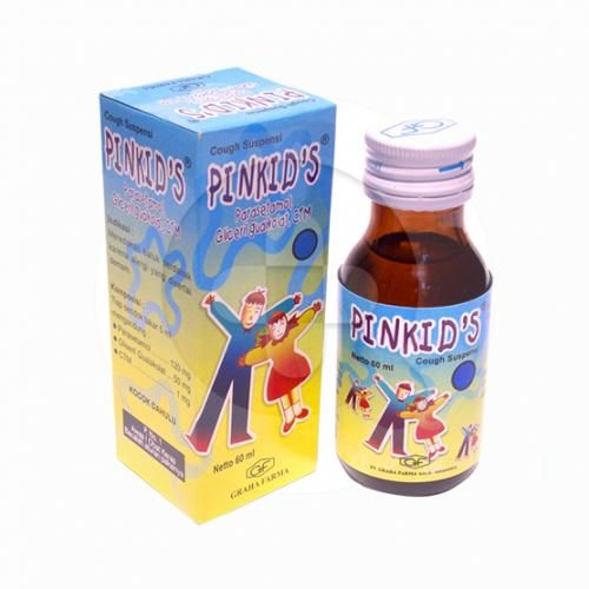 Pinkids suspensi digunakan untuk meredakan batuk berdahak karena alergi yang disertai demam.
