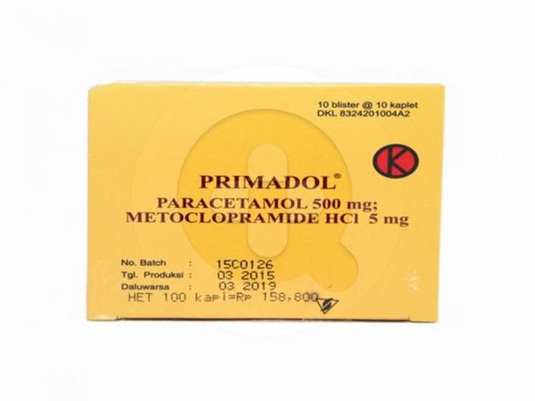Primadol kaplet adalah obat untuk menurunkan demam dan meringankan nyeri ringan seperti sakit kepala sebelah (migrain) dan sakit gigi.