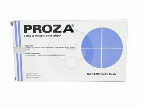 Proza kaplet digunakan untuk terapi tambahan pada infeksi saluran nafas dan meningkatkan ketahanan tubuh.