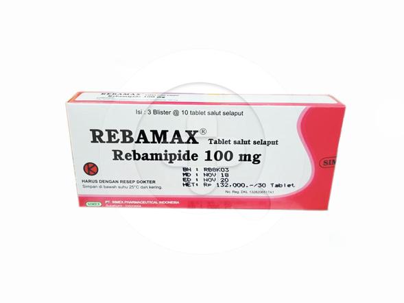 Rebamax tablet adalah obat untuk mengatasi luka dan peradangan pada dinding lambung (gastritis).