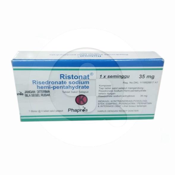 Ristonat tablet adalah obat untuk mencegah dan mengobati pengeroposan tulang (osteoporosis).