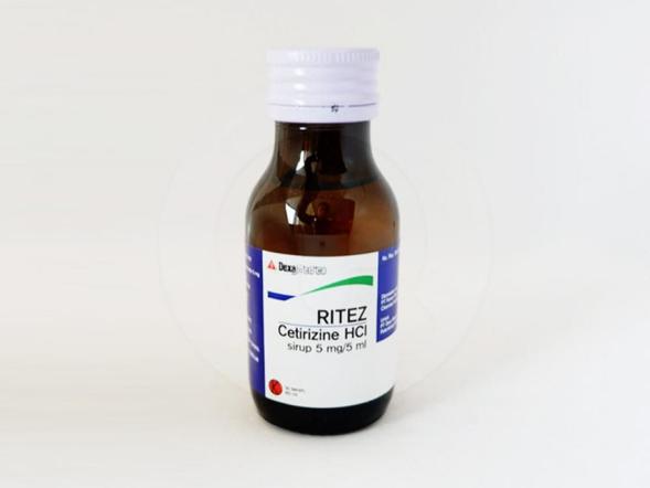 Ritez sirup adalah obat untuk meredakan gejala alergi seperti rhinitis alergi dan urtikaria.