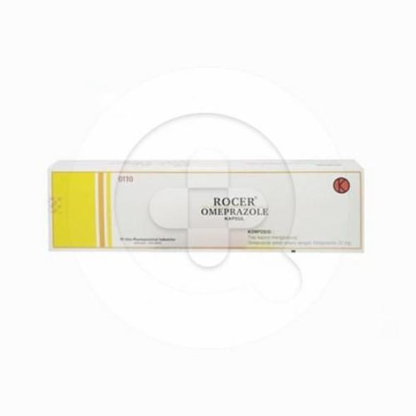 Rocer kapsul adalah obat untuk mengurangi jumlah asam yang dihasilkan oleh lambung.