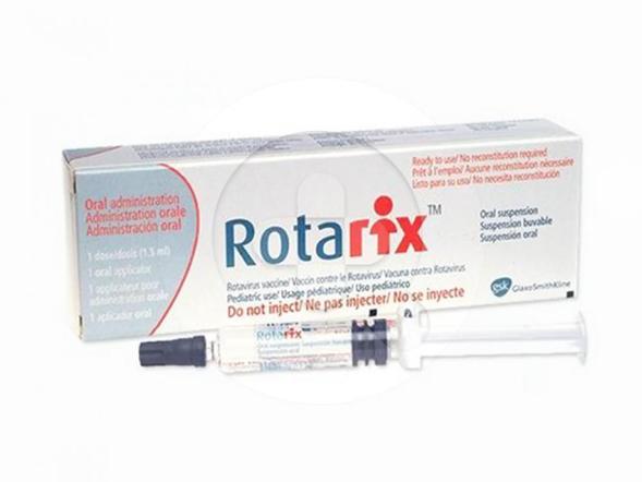 Rotarix vaksin digunakan untuk mencegah muntah dan diare akibat infeksi atau peradangan pada dinding saluran pencernaan, terutama lambung dan usus (gastroenteritis) yang disebabkan oleh rotavirus.