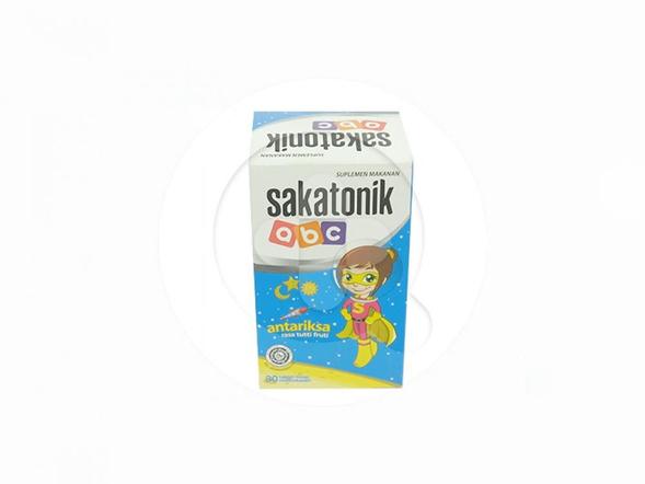 Sakatonik ABC Antariksa tablet hisap rasa tutti fruti untuk membantu menjaga kesehatan anak.