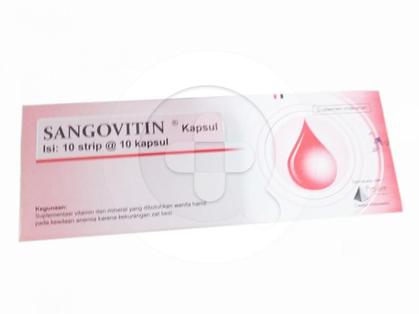 Sangovitin kapsul merupakan suplemen untuk mengatasi anemia defisiensi besi pada ibu hamil, remaja, dan lanjut usia.