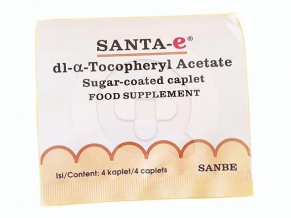 Santa-E kaplet digunakan untuk mengatasi kekurangan (defisiensi) vitamin E.
