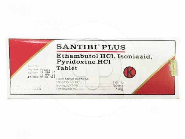 Santibi Plus tablet digunakan untuk mengobati tuberkulosis paru.