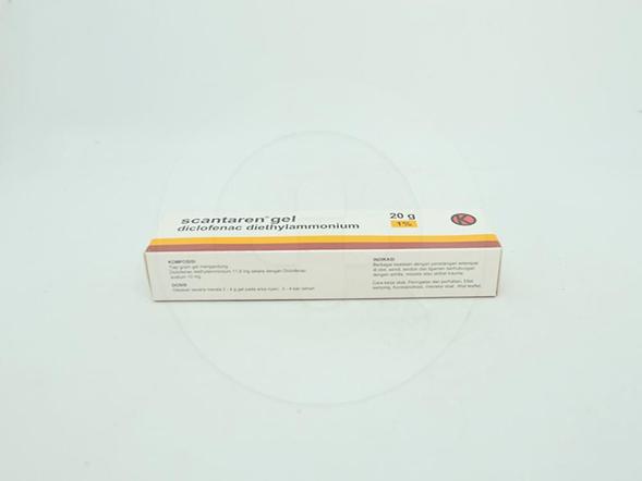 Scantaren 1 % gel adalah obat untuk mengatasi peradangan pada otot, sendi, tendon, dan ligamen.