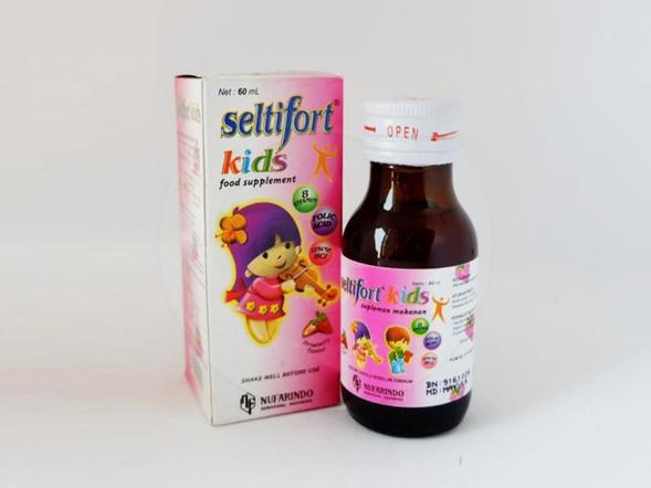 Seltifort kids sirup 60 ml untuk memelihara kesehatan pada masa pertumbuhan.