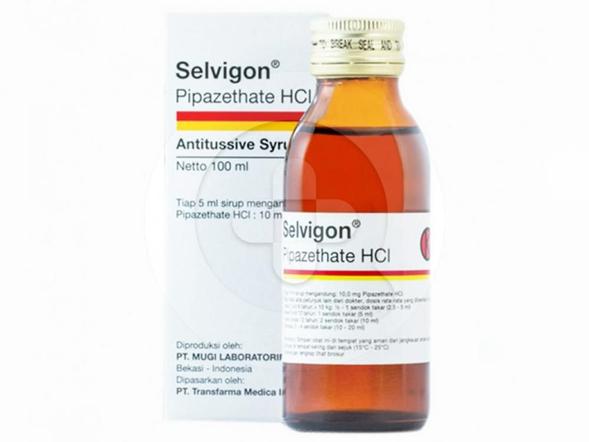 Selvigon sirup digunakan untuk meredakan batuk akibat iritasi yang sering terjadi.