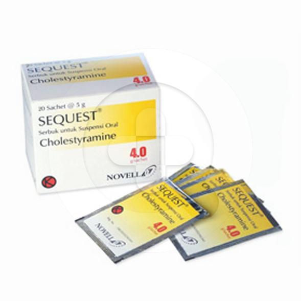 Sequest sachet adalah obat untuk terapi tambahan dalam menurunkan kadar kolesterol.