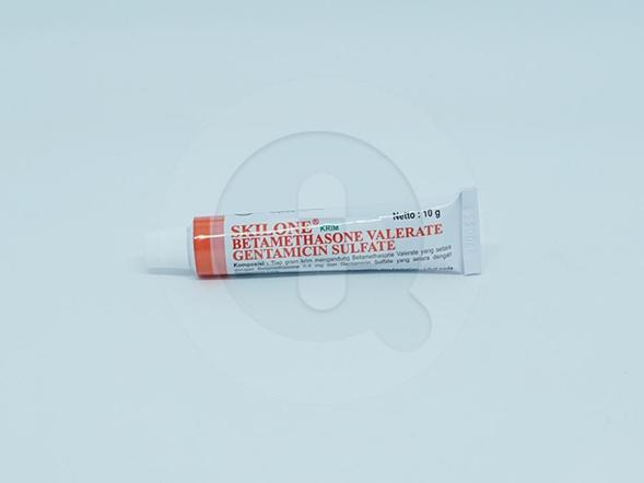 Skilone Krim 10 g digunakan untuk penggunaan topikal pada kasus-kasus dermatosis yang responsif terhadap kortikosteroid yang diikuti dengan infeksi sekunder yang sensitif terhdap gentamicin.