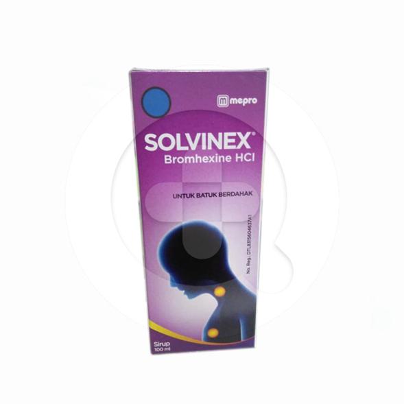 Solvinex sirup adalah obat untuk mengatasi gangguan saluran pernapasan seperti batuk berdahak.