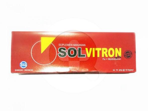 Solvitron kapsul merupakan suplemen untuk mencegah anemia dan kekurangan zat besi.