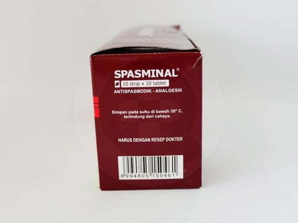 Spasminal tablet berfungsi untuk meringankan rasa sakit yang disertai dengan kejang otot (spasme).