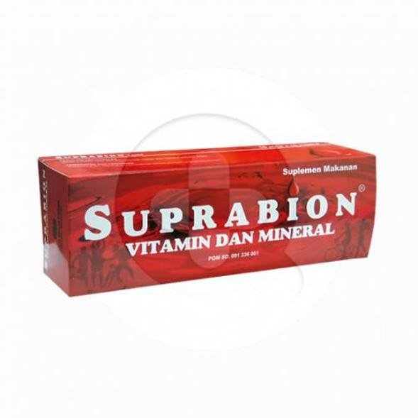 Suprabion kapsul digunakan untuk mencegah dan mengobati anemia karena kekurangan mineral, vitamin B dan zat besi.