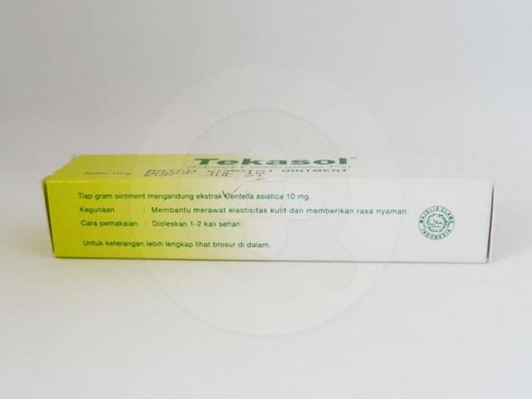 Tekasol salep 10 g obat untuk membantu merawat elastisitas kulit dan memberikan rasa nyaman.