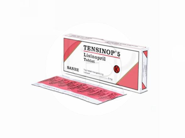 Tensinop tablet adalah obat untuk mengatasi hipertensi, nefropati diabetik, dan gagal jantung.