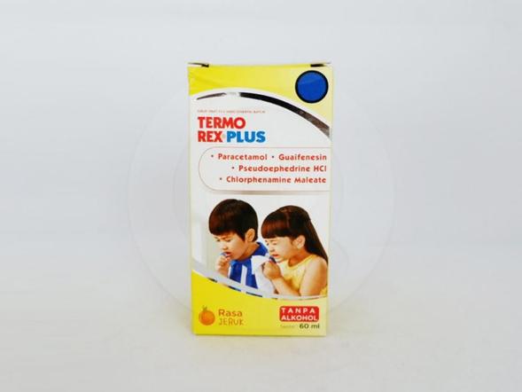 Termorex plus sirup untuk meringankan gejala flu.