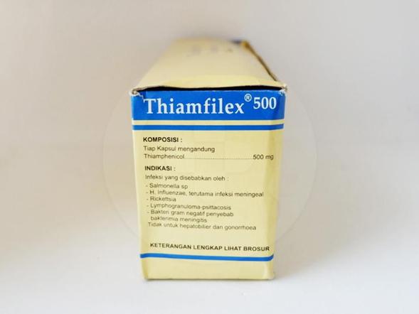 Thiamfilex 500 kapsul obat untuk mengatasi infeksi yang disebabkan oleh bakteri.